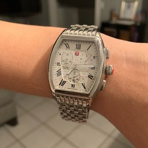 Michele Silver Unisex Watch